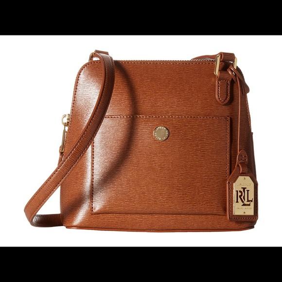 445fbdce2f88 Ralph Lauren Newbury Leather Crossbody